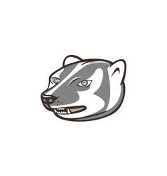 Badger Head Side Isolated Cartoon vector