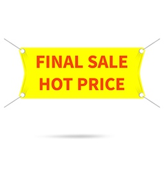 Banner final sale hot price vector