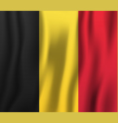 belgium realistic waving flag national country vector image