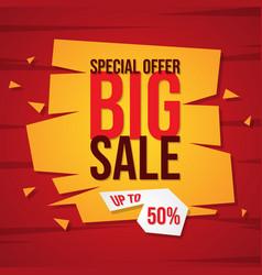 Big sale discount advertisement banner vector