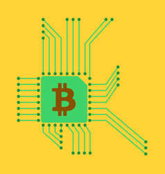 Blockchain system and network concept finance vector