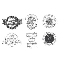 Branding italian restaurant logo trattory vector