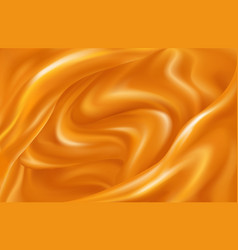 Bright background swirling waves orange vector