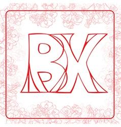 BX monogram vector