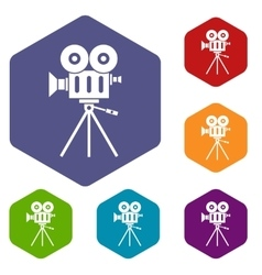 Camcorder icons set vector