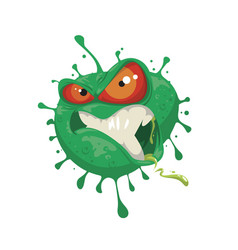 cartoon evil coronavirus vector image