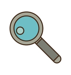 Cartoon search web technology find vector