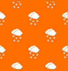 Cloud and snowflakes pattern seamless vector