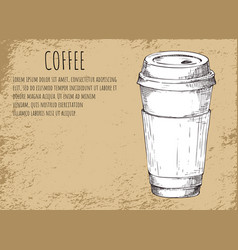 coffee cup beverage poster vector image