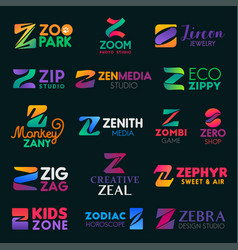 Company business identity z letters vector