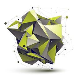 Cybernetic asymmetric stylish construction light vector image