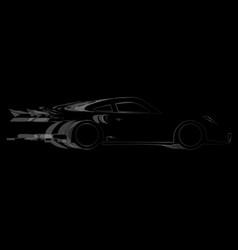 Dark fast car vector