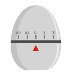 Egg timer icon flat style vector