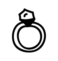 Engagement ring cartoon icon image vector