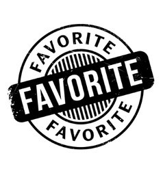Favorite rubber stamp vector