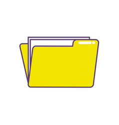 Folder file with important business documents vector