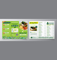 Food delivery flyer pamphlet brochure design vector