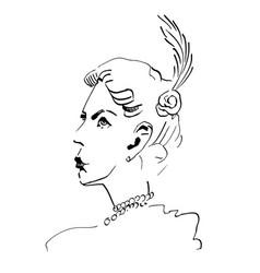 girl retro women twenties vector image