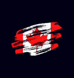 Grunge textured canadian flag vector