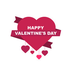 Happy valentines day festive background vector