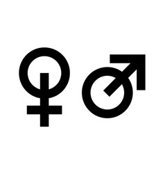 icons masculine and feminine man and woman vector image