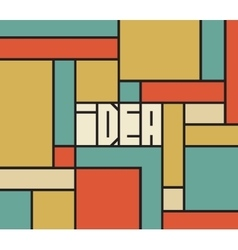 Idea word typography background vector image
