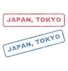 Japan tokyo textile stamps vector