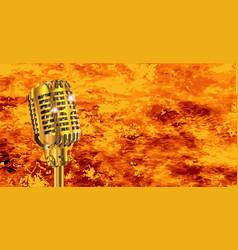 Karaoke microphone on fire vector