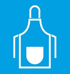 Kitchen apron icon white vector