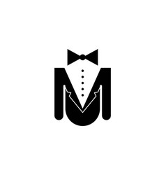 Man suit and tie logo designs inspiration vector