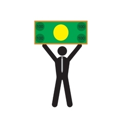 Modern flat icon man with bill on white background vector