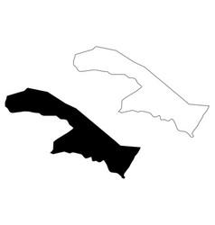northern borders region map vector image