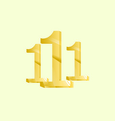 number one gold vector image