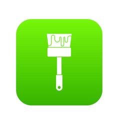 paint brush icon digital green vector image