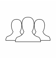 People icon in outline style vector image