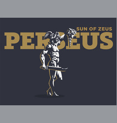 Perseus with the head of medusa vector