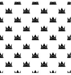 prince crown pattern seamless vector image