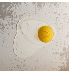 Realistic Easter Chicken raw Egg with Text vector image