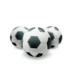 realistic footbal soccer ball vector image