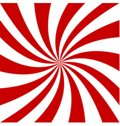 Red and white spiral background vector