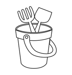 Sand bucket toy icon vector