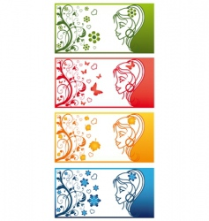 Seasons banners vector