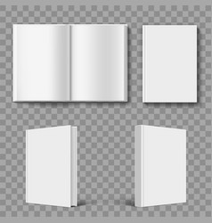 set blank book cover template vector image