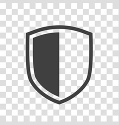 shield icon isolated on transparent background vector image