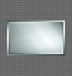 Silver and grey metallic sign vector image