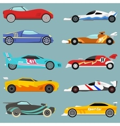 Sport car set vector image