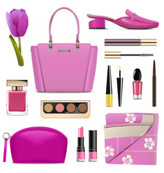 spring female accessories vector image
