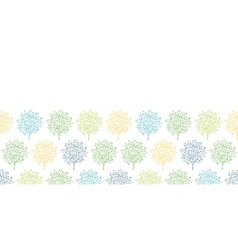 Summer trees colorful horizontal seamless pattern vector image