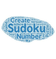 The History of Sudoku text background wordcloud vector