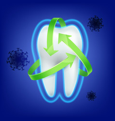 tooth protection consept vector image vector image